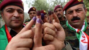 Les Kurdes d'Irak ont voté pour le référendum d'autodétermination de leur région, lundi 25 septembre 2017.
