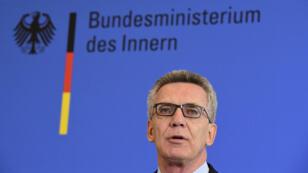 Le ministre allemand de l'Intérieur, Thomas de Maizière, annonce de nouvelles mesures de lutte contre le terrorisme le 11 août 2016.