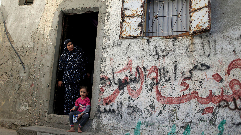 Palestinians in a Gaza refugee camp, on November 17, 2019.