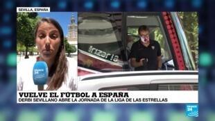 En España, regresó el fútbol bajo estrictas medidas de seguridad