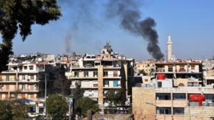Le 20 novembre, les quartiers ouest d'Alep subissaient des tirs de roquettes tirées par les rebelles.