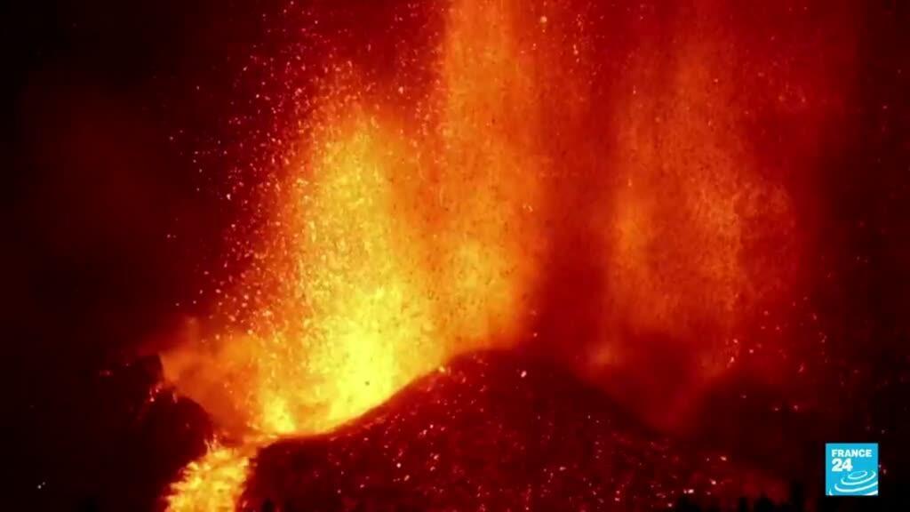 2021-09-20 09:44 Espagne : des coulées de lave à La Palma après l'éruption d'un volcan
