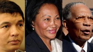 Andry Rajoelina, Lalao Ravalomanana et Didier Ratsiraka