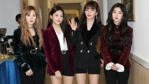 Les chanteuses du groupe sud-coréen Red Velvet à Pyongyang, le 1er avril 2018.