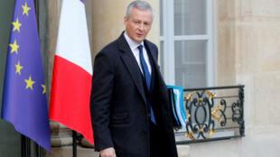 Bruno Le Maire sortant de l'Élysée, le 19 décembre 2018.