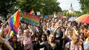 Hundreds of people turned out for the first gay pride march in the Polish city of Bialystok