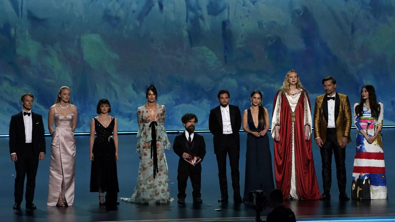 Los protagonistas de 'Game of Thrones', ganadora de uno de los premios más esperados de la noche en Los Ángeles, California, EE. UU., 22 de septiembre de 2019.
