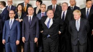 Ministros de Exteriores de los países miembros de la OTAN este viernes 27 de abril de 2018 en Bruselas.
