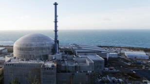 Vue de la centrale nucléaire de Flamanville, dans la Manche