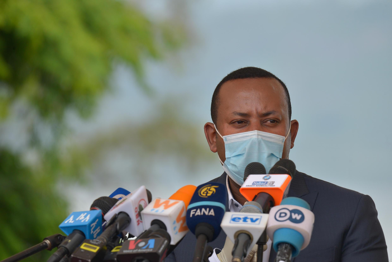Le Premier ministre éthipien Abiy Ahmed lors d'une cérémonie avant le début des manifestations.