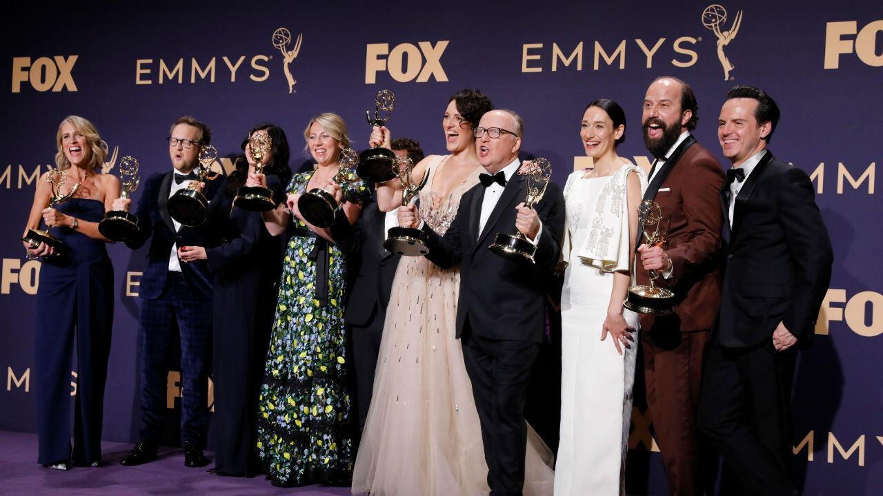 En la categoría de mejor comedia la estatuilla se la llevó el elenco de 'Fleabag'.
