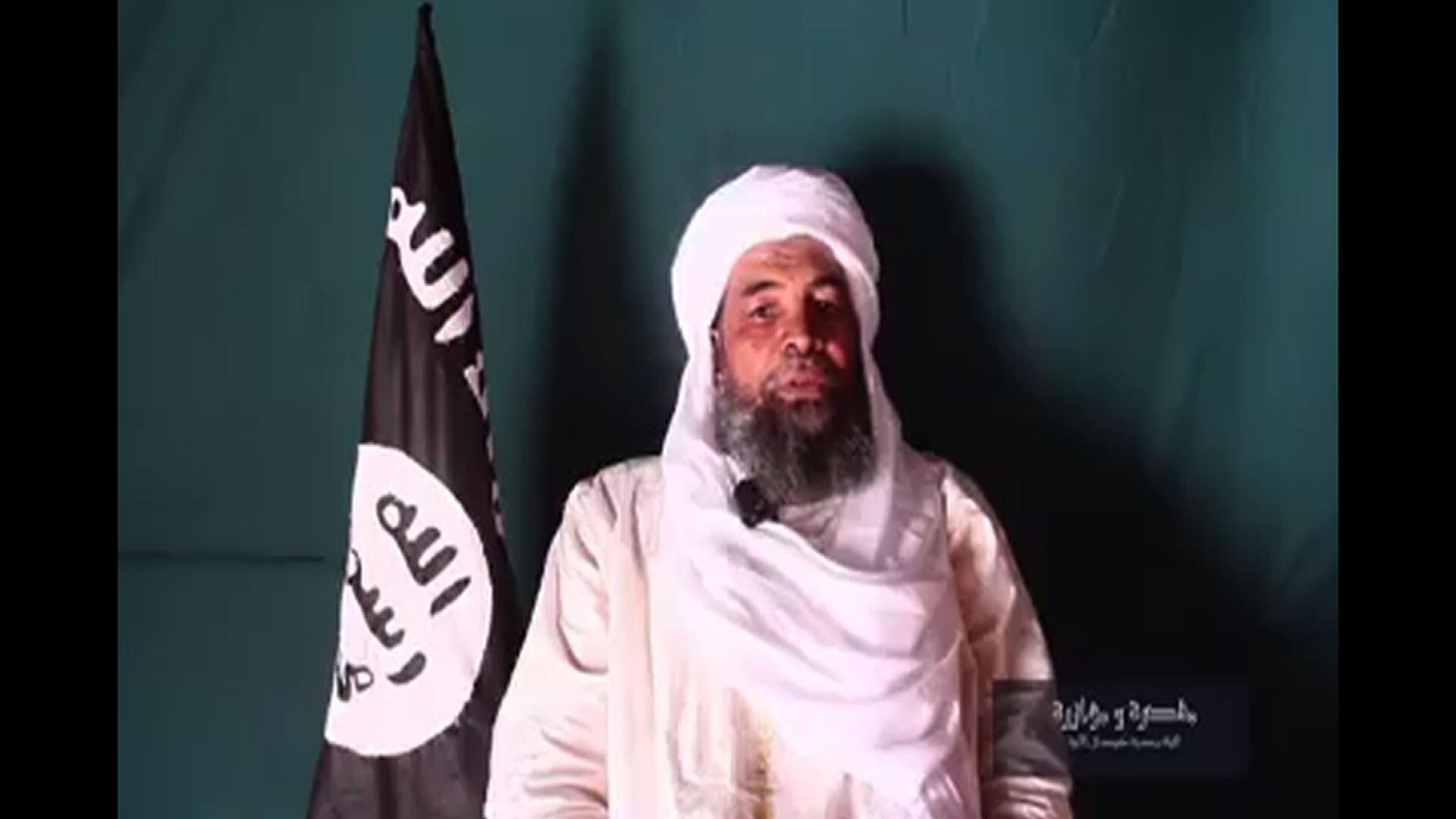 An image grab from a June 2016 video released by the Islamist group Ansar Dine shows Iyad Ag Ghaly.