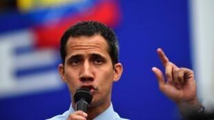 Juan Guaido à Caracas le 12 mars 2019.