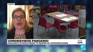 2020-06-01 14:17 UK schools begin to reopen as government eases Covid-19 lockdown measures