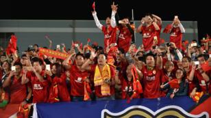 Les supporters du Guangzhou Evergrande, champion d'Asie en titre.