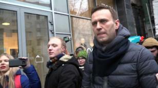 L'opposant à Vladimir Poutine, Alexeï Navalny, a été arrêté dimanche 28 janvier 2018, à Moscou.
