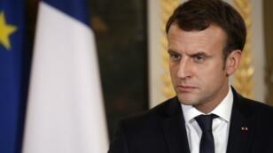 Neuf mois après son élection, Emmanuel Macron a rencontré à Paris, le 13 février 2018, 120 journalistes de l'Association de la presse prédidentielle.