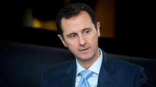 Le président syrien Bachar al-Assad, à Damas, en janvier 2015.