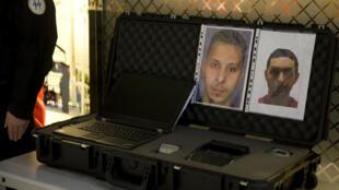 Photo prise le 3 décembre à l'aéroport Roissy Charles de Gaulle, la police disposait alors des portraits des fuyards.