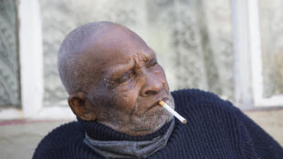 Blom was born in 1904 in the rural town of Adelaide and despite his great age still enjoys a cigarette