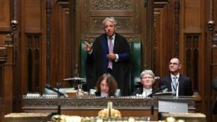 El diputado, John Bercow, habla en la Cámara de la Cámara de los Comunes por última vez como presidente de la Cámara, en Londres, Reino Unido, el 31 de octubre de 2019.