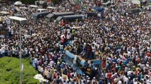 Des Patel manifestent à Ahmedabad, la principale ville du Gujarat, le 22 août 2015.