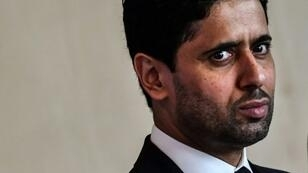 Warning: Paris Saint-Germain's Qatari president Nasser Al-Khelaifi