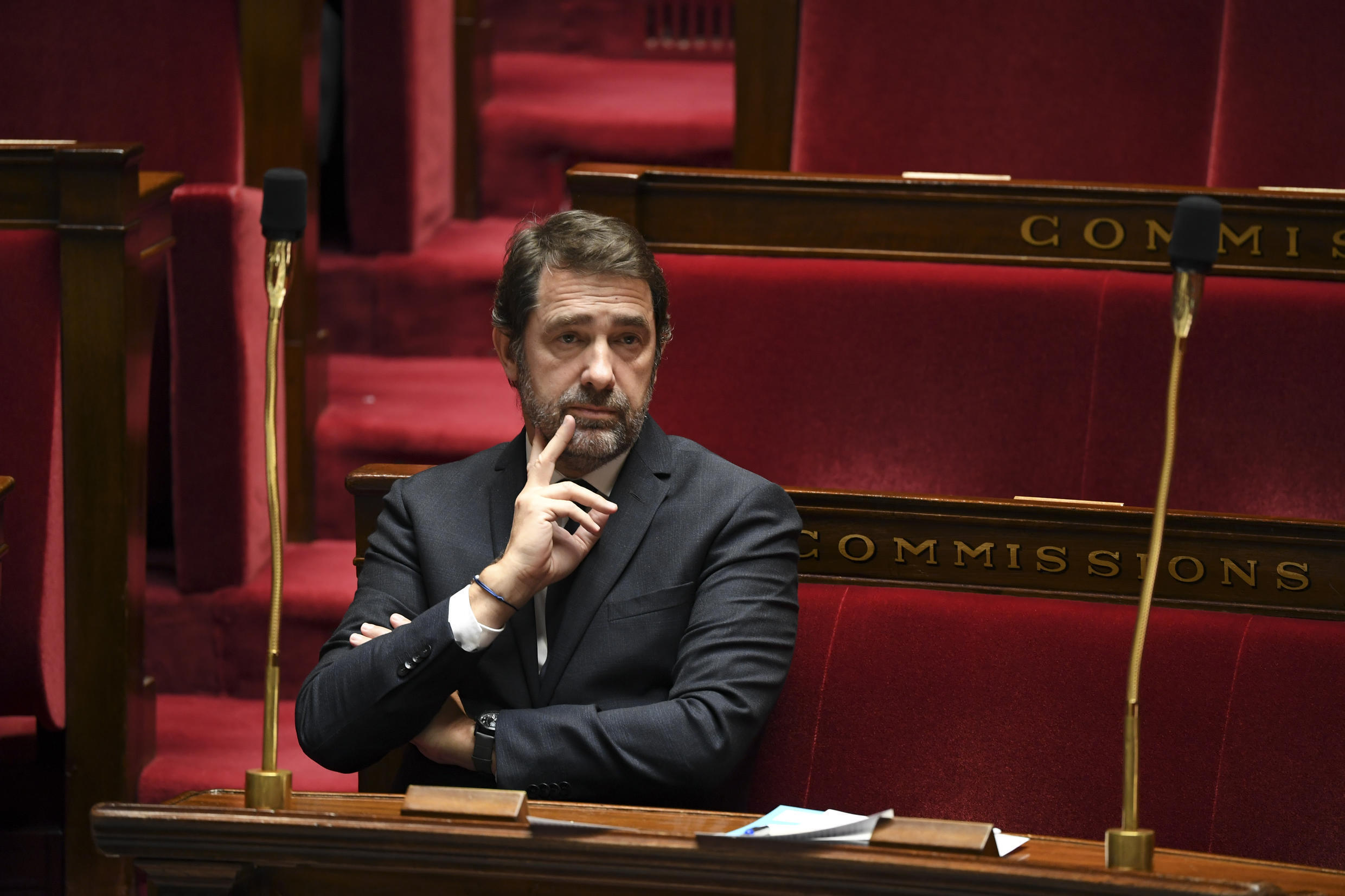 The former Minister of the Interior Christophe Castaner, April 7, 2020, at the National Assembly, in Paris.