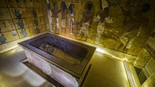 La chambre funéraire du pharaon Toutankhamon, dans la  Vallée des Rois, à Louxor.