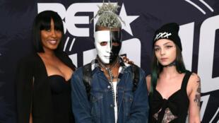 Le rappeur américain XXXTentacion avant la remise des BET Hip Hop Awards 2017 à Miami, le 6 octobre 2017.