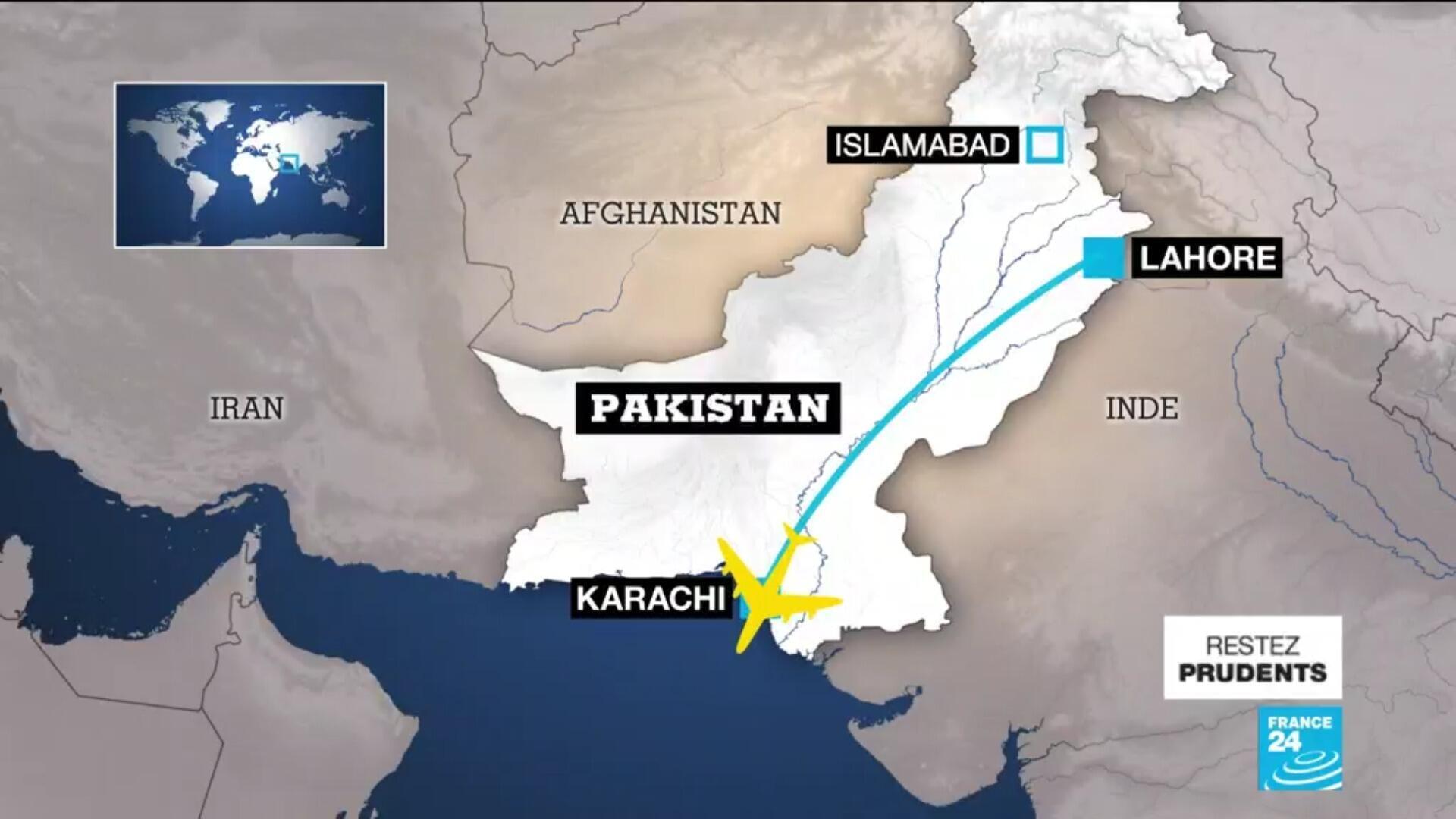 L'Airbus A320 qui s'est écrasé à Karachi le 22 mai 2020 était en provenance de Lahore.