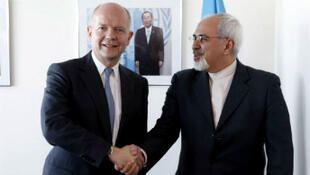 William Hague et  Mohammad Javad Zarif.