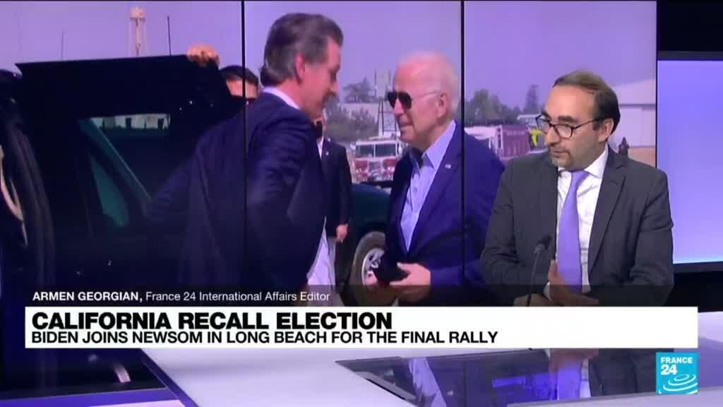 2021-09-14 11:03 California recall election: Biden stumps for governor Newsom ahead of the vote