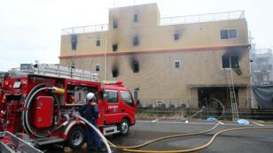 L'incendie s'est délcaré jeudi matin dans les studios Kyoto Animation.