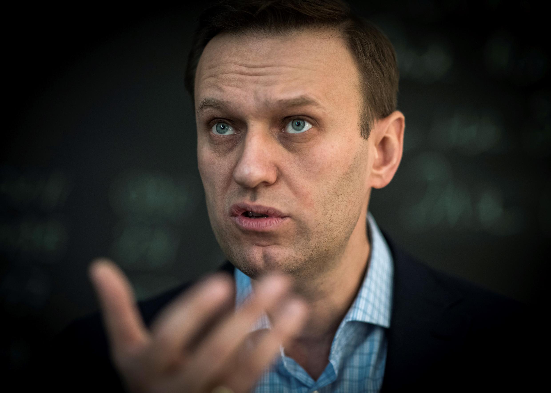 Imagen de archivo del líder opositor ruso Alexéi Navalny, hospitalizado en Alemania tras haber sufrido un envenenamiento en Rusia.