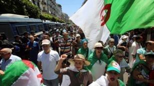 جانب من المظاهرات في الجزائر العاصمة 28 يونيو/حزيران 2019.