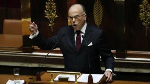 Bernard Cazeneuve, mardi 13 décembre 2016, lors de son discours de politique générale à l'Assemblée nationale.