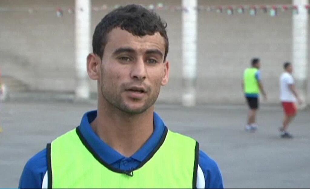 -اللاعب الفلسطيني سامح مراعبة-الصورة ملتقطة من الفيديو