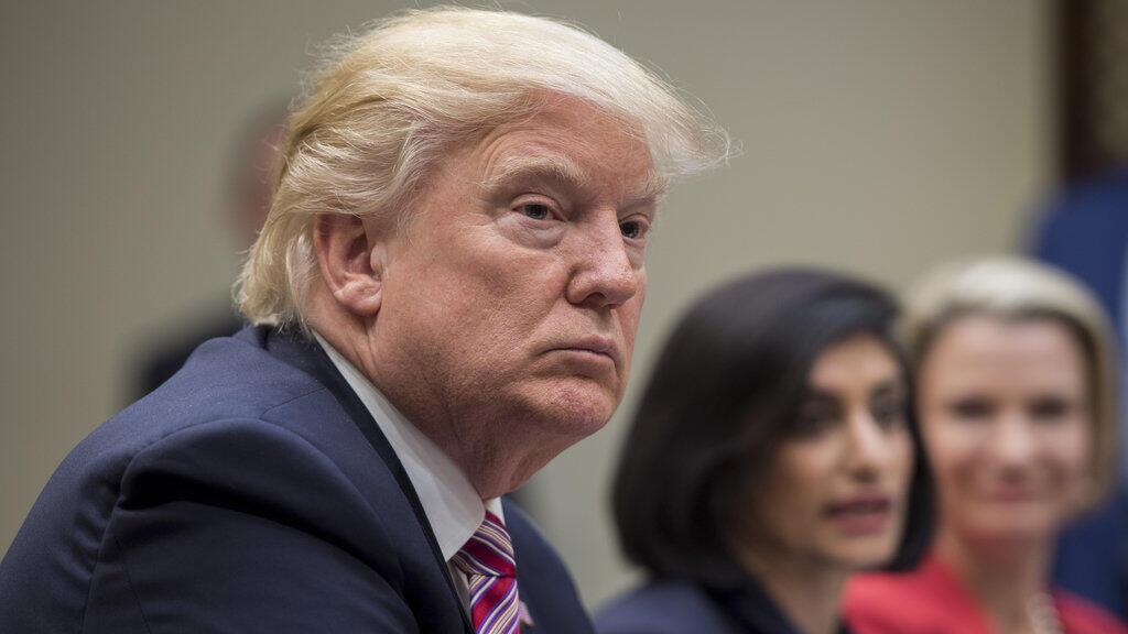 Donald Trump lors d'une réunion sur la réforme de santé à la Maison Blanche, mercredi 22 mars 2017.