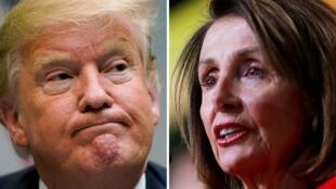 Donald Trump y Nancy Pelosi amplían sus diferencias luego que la presidenta de la Cámara de Representantes cancelara el discurso anual ante el Congreso
