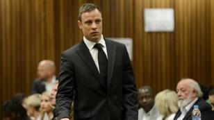 Oscar Pistorius au tribunal de Pretoria, le 21 octobre 2014.