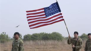 Un soldat américain à la base de Thies, au Sénégal, en février 2016.