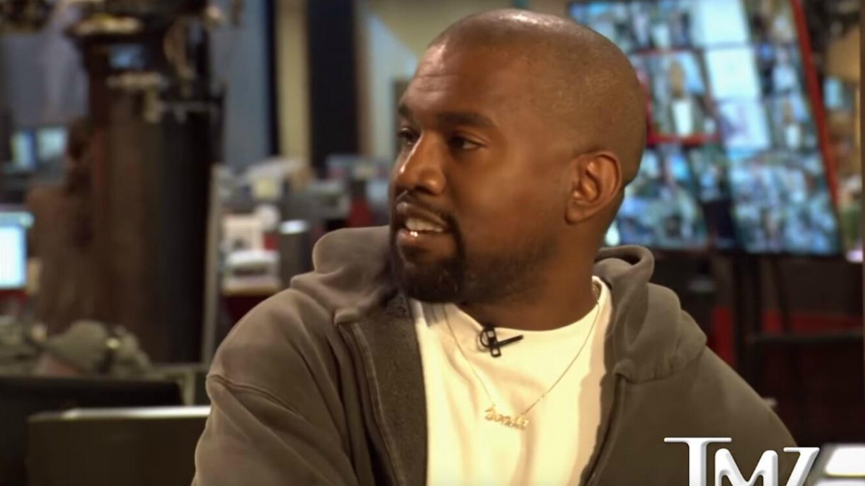 Capture d'écran de l'interview de Kanye West par TMZ.