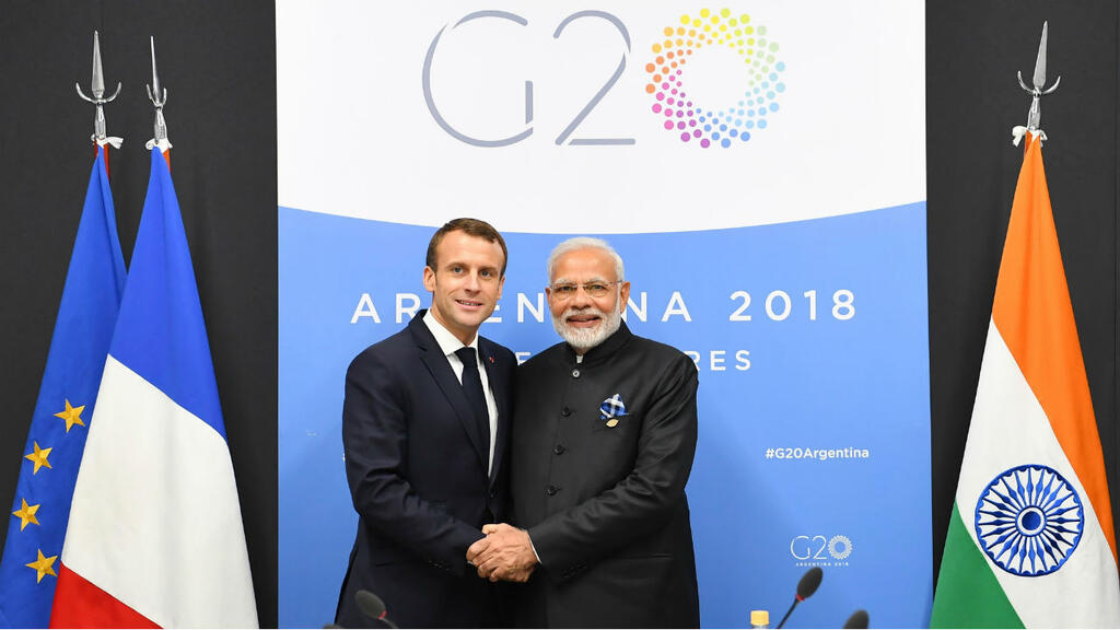 Macron meets with Modi under shadow of India's Kashmir clampdown