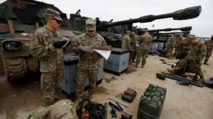 مدرعة عسكرية أمريكية في بولندا