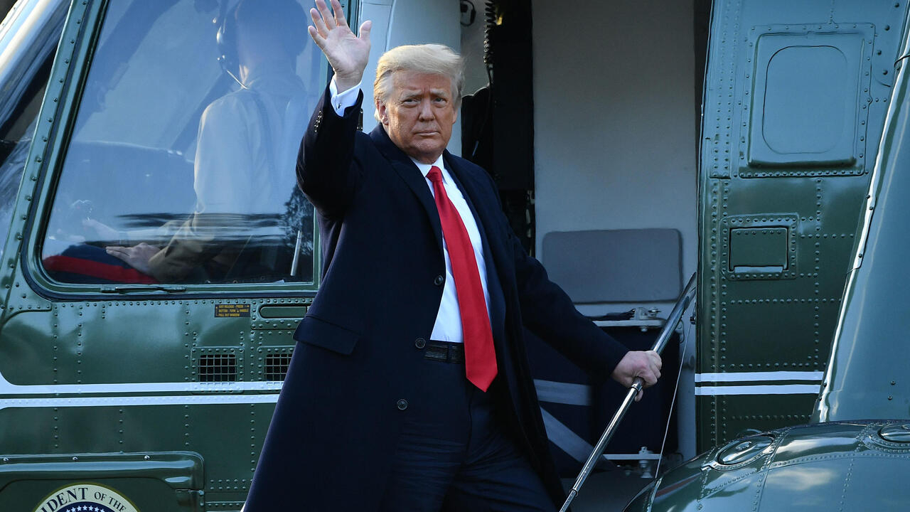 Trump leaves White House for last time, snubbing Biden inauguration