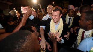Emmanuel Macron était en déplacement à Mayotte le 26 mars dernier.