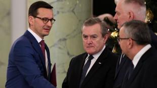 Le nouveau Premier ministre polonais Mateusz Morawiecki, investi, le 11 décembre 2017.