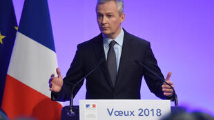 Bruno Le maire exprimant ses voeux à la presse, le 15 janvier 2018.