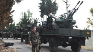 صورة لعناصر من الجيش السوري، 2015